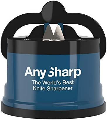 AnySharp World's Best Knife Sharpener with PowerGrip