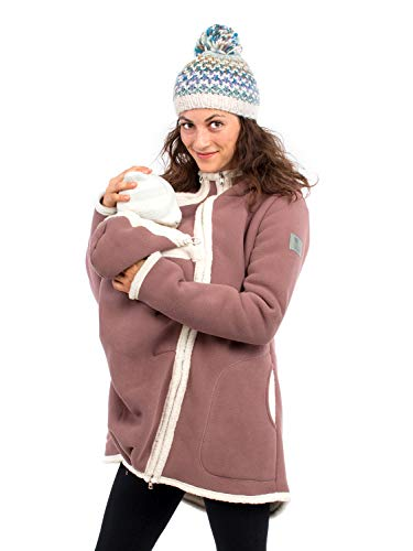 Viva la Mama I Damenjacke Winter schwanger Mama Baby Mantel Umstandsmantel warm - Arctica braun Natur - S