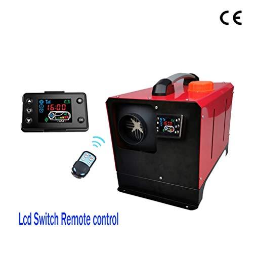 Dmqpp Diesel verwarming, parkeerplaats, 12 V, 5 kW, laag lawaai, vrachtwagen/boot/aanhanger voor auto/caravan/touring/caravan, kleur: zwart, LCD, omschakelbaar 24 V Black Lcd SwitchRemote24V