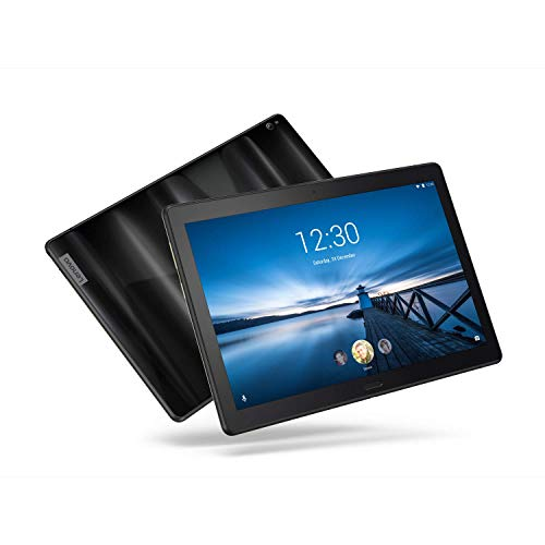 "Lenovo Smart Tab P10, 10.1"" Alexa-Enabled Android Smart Device Tablet, Octa-Core Processor, 1.8GHz, 32GB, Dual Glass Design, 4 Speakers, Charging Dock incl, Android Oreo, ZA440145US, Aurora Black"
