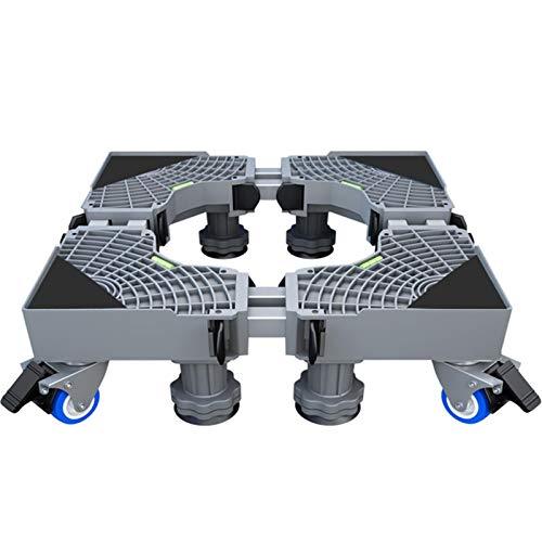 miss-an Soporte para lavadoras y secadoras. Soporte multifuncional para lavadoras con 4 ruedas de seguridad para lavadora, frigorífico y secadora