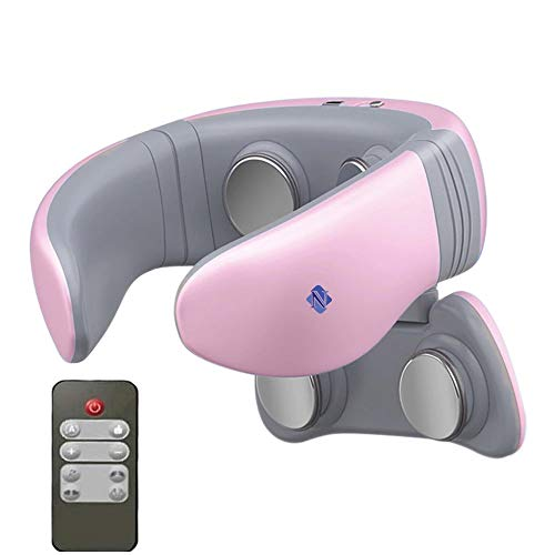 Noova Intelligent Neck and Shoulder Portable Massager with Heat, Smart Personal 4D Cordless Pulse Pain Relief Equipment with Remote Control, Best Gifts for Men Women Dad Mom