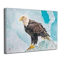 Skydoor J パネル ポスターフレーム スノーマウンテン野生動物のワシ インテリア アートフレーム 額 モダン 壁掛けポスタ アート 壁アート 壁掛け絵画 装飾画 かべ飾り 30×20