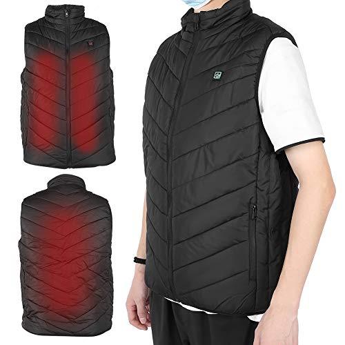 Práctico chaleco calefactor agradable para la piel Práctico chaleco calefactor cálido para relajación para mujeres y hombres para antiestático(L)