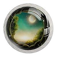 引き出しハンドルは丸いクリスタルガラスを引っ張る キャビネットノブキッチンキャビネットハンドル,キッズエンチャントフォレスト満月プリント