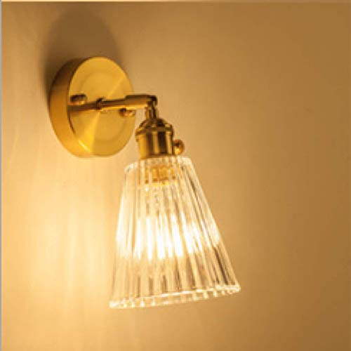 Ice-Beaut Nordic Japanese Style Brass Glass Wall Lamp Creative Bedroom Bedside Cloakroom Background Wall Bathroom Led Mirror Front Lamp
