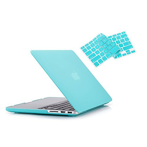 "RUBAN Case Macbook Old Retina 15"" No CD-ROM (2012-2015 ) Release (A1398), Plastic Hard Case Shell with Keyboard Cover for Old Macbook Pro 15-inch 15.4"" with Retina Display, Turquoise"