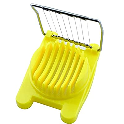 Kentew 1PC Durable Practical Kitchen Stainless Steel Boiled Egg Cutter Slicer Outdoor Cooking Tools & Accessories