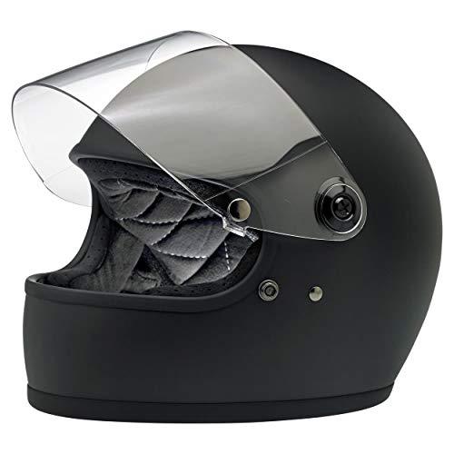 BILTWELL Gringo S casco de motocicleta de cara completa, color negro