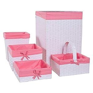 Redmon Budget Series Basket, White/Pink