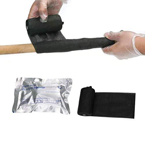 tigoo Fiberglass Repair wrap PVC Pipe Repair Fiber Glass fix kit Flex Seal Tape Waterproof Heat Tape for Water Pipes Exhaust wrap Quick Repair Metal Wood Handle 100x Stronger Than Duct Tape(15ft)