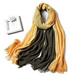 FML Nueva bufanda para mujer, chales y abrigos de algodón de retazos a la moda, bufandas de invierno para mujer, diadema para el cuello, estolas para mujer