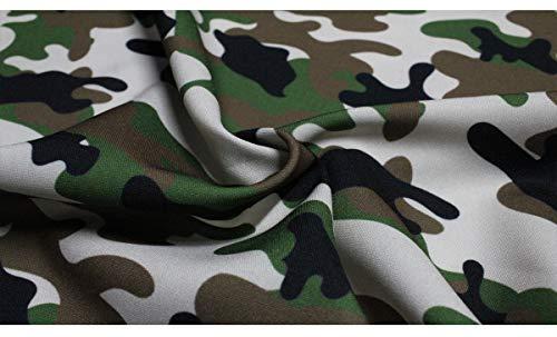 Russo Tessuti Tessuto Tela Militare Mimetico Camouflage Marrone Verde Beige Caccia 50x150cm