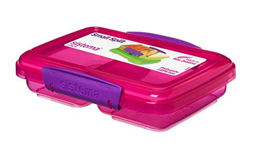 Sistema 350 ml Snackbox SMALL Split - Phthalate- und BPA-freie Mini-Lunchbox 41518 (pink)