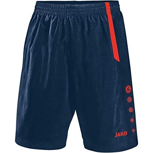 JAKO Turin Shorts de randonnée Mixte Enfant, Navy/Flamme, 140