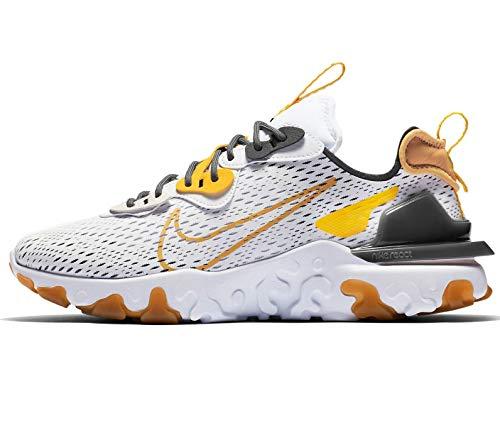 Nike React Vision, Scarpe da Corsa Uomo, Bianco (Bianco/Iron Grey/Vast Grey/Honeycomb), 40 EU