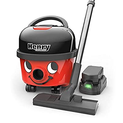 NaceCare - 905033 Numatic/ Henry Cordless Compact Canister Vacuum Cleaner HVB 160-2 Batteries Included, 2 Speed Selection, with Professional AS29E Accessory Set