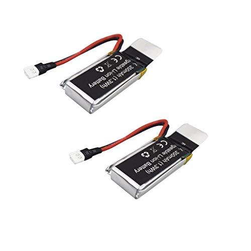 F-Mingnian-rsg Drone Batteria Accessori 2PCS 3. 7V 350mah Batteria al Litio Telecomando Prober Accessori per UDIRC D33 U12S Telecomando Parti di Ricambio per elicotteri