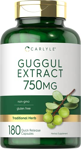 Carlyle Guggul Extract 750 mg Guggulsterone 180 Caps
