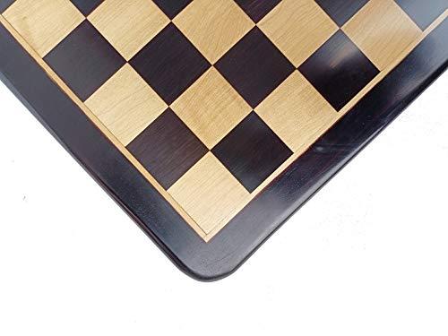 Desconocido Generic Tablero de ajedrez de Madera Hecho a Mano en Madera de ébano y Madera de Arce Solo Tablero de 21 'Pulgadas (55 mm) | Tablero de ajedrez de Lujo