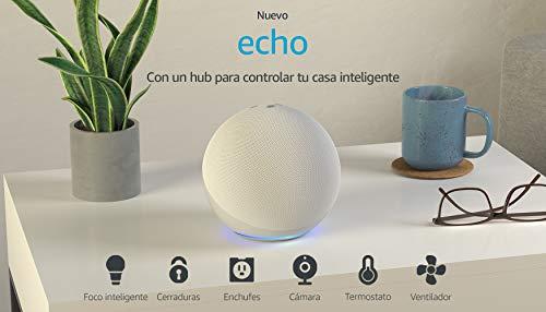 Echo con Lloyds Foco Inteligente WiFi, Multicolor + Luz Blanca Fría y Cálida, Blanco