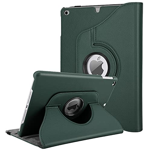 TiMOVO iPad 9.7 2018/2017, iPad Air 2, iPad Air Case - 360 Degree Rotating Case Smart Leather Stand Cover with Pencil Holder, Auto Wake/Sleep for Apple iPad 5/6th Gen/iPad Air 1/2 - Verde Noche