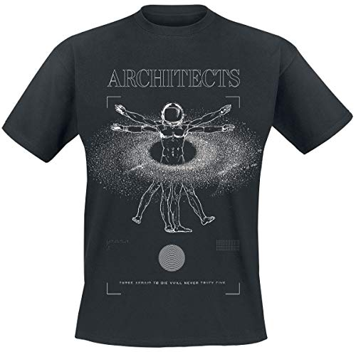 Architects Vitruvian Männer T-Shirt schwarz XXL 100% Baumwolle Band-Merch, Bands, Nachhaltigkeit