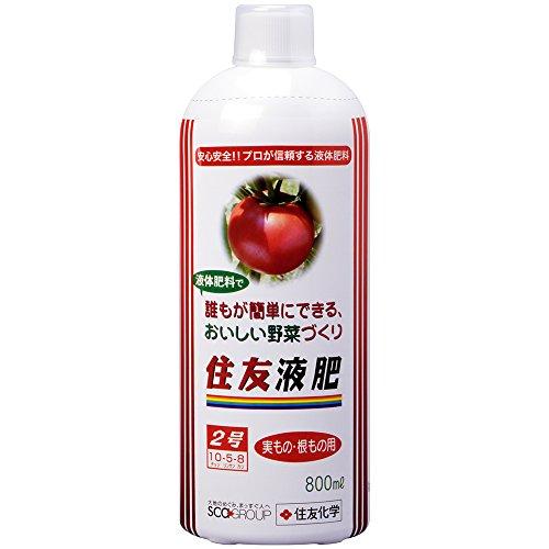 レインボー薬品 液体肥料 住友液肥2号実もの・根もの用 800ml