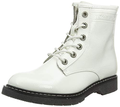 TOM TAILOR Damen 7992801 Stiefeletten, Weiß (White 00002), 40 EU