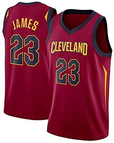 WSUN NBA Herren Trikot, Cleveland Cavaliers 23# Lebron James Trikot NBA Basketball Fan Trikot NBA Cool Und Leicht Ärmelloses Sport T-Shirt,S(165~170CM/50~65KG)