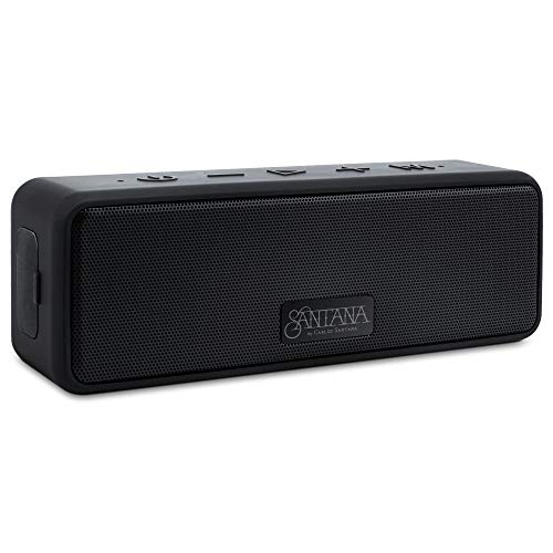 Samba by Carlos Santana High Power Portable Bluetooth Speaker, 20W Wireless Speaker, IP67 Waterproof Dustproof, 24H Playtime, Powerful Extra Loud Volume + Bass