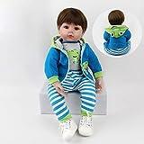 ZIYIUI Simulation 24''/60cm Reborn Baby-Puppe Vinyl Silikon Reborn Babys Junge Lebensechte Babypuppen Magnetisch Mund Mädchen Junge Spielzeug Geschenk