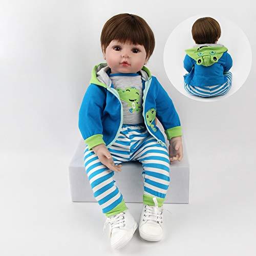 ZIYIUI Bambola Reborn 24'' 60 cm Realistico Bambole Bambino Neonatale Simulazione Morbido Silicone Vinile Reborn Toddler Babies Bebe Reborn Maschio Regalo Bambole Reborn