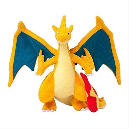 NAPANA - 25cm Pikachu Mega Charizard X Plush Toy Animal Soft Stuffed Dolls for Children Gift - Size 10 inch - Color Yellow