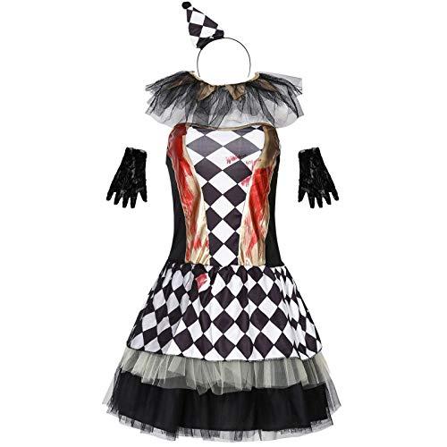 yxr Disfraces de payaso malvado para discoteca, para el da de Pascua, disfraces de Halloween