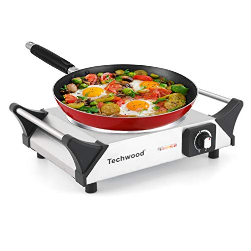 Techwood Hot Plate Infrared Ceramic Electric Stove 1200W Countertop Single Burner with Adjustable...