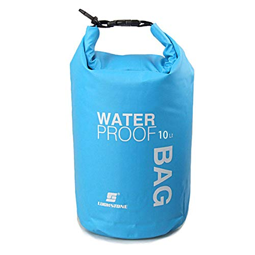 Uncle Paul Boat Dry Bags - Blue 10L Waterproof Bag For Drifting Boating Kayaking Fishing Rafting Swimming Camping Canoeing Surfing 10 Litres