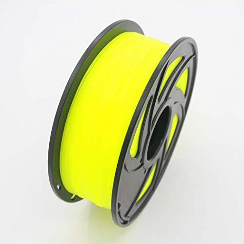 WSHZ Filament d'imprimante 3D ABS, précision dimensionnelle de +/- 0,02 mm, 1 Bobine, Paquet de 1 à 10 bobines, pour Impression 3D (Jaune Fluo, 380 mm),10volumes