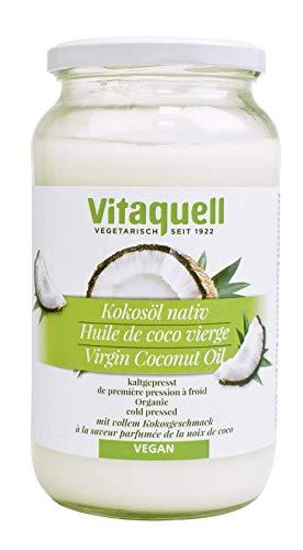 Vitaquell Kokosöl 860 ml Bio, nativ kaltgepresst zum Kochen, Backen, Braten oder für die Hautpflege