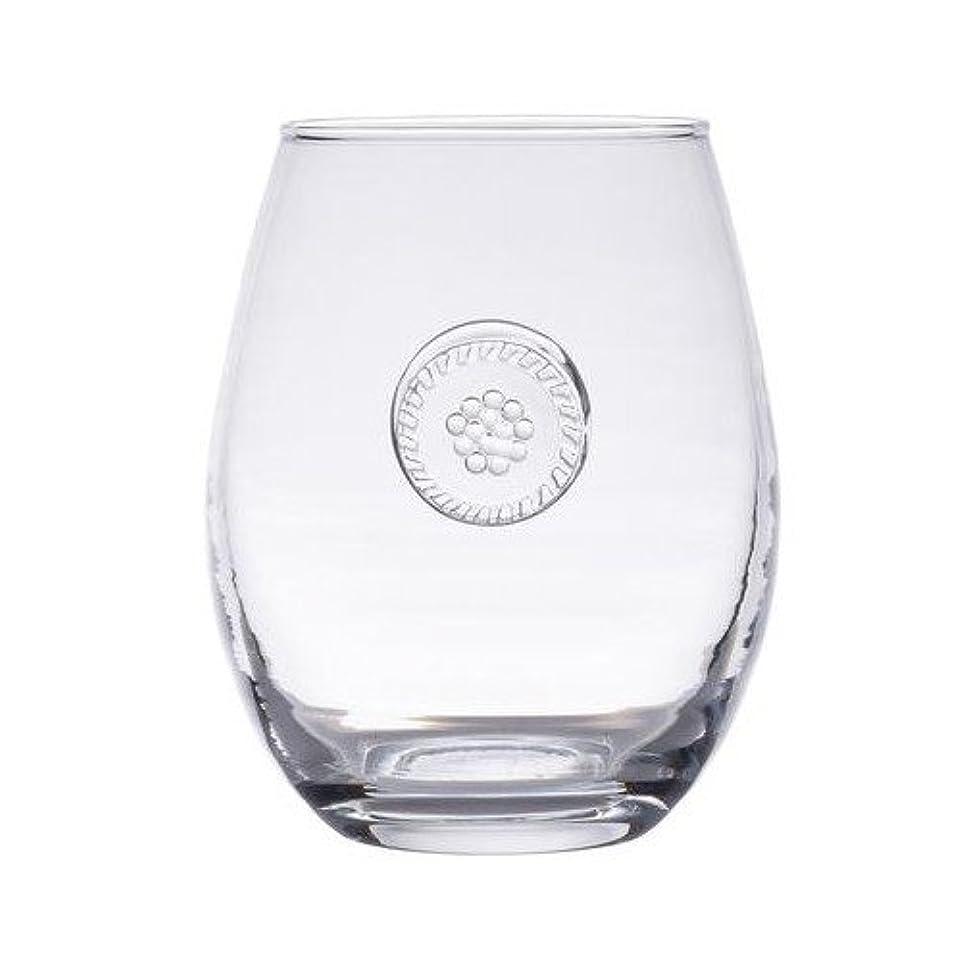 グラフィック果てしない小人Juliskaベリー&スレッドGlasswareクリアStemlessホワイトワイン