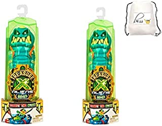 POG Kids Boys (Bonus Exclusive Al La Frantiea stylo) 2 of Treasure X Aliens - Dissection Kit with Slime, Action Figure, and Treasure, Multicolor