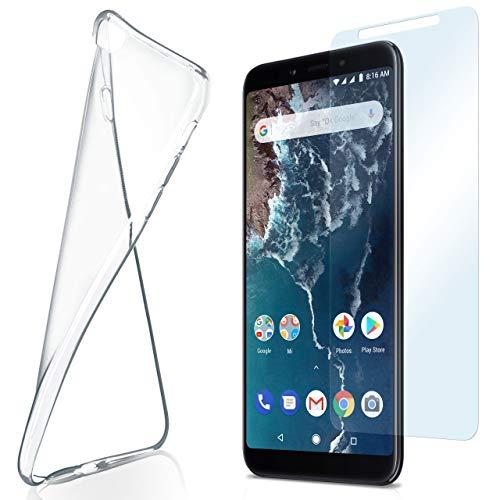 moex Aero Case mit Panzerglas für Xiaomi Mi A2 - Hülle mit Schutzfolie, transparent - Crystal Clear