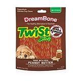 DreamBone Twist/Treat/Chew Sticks Peanut Butter 50 Pk, Pack/Bundle of 2 (100 Treats Total)
