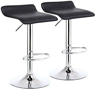 Amazon.com: Zuri Furniture Lynx Bar Stool with Metal Base ...