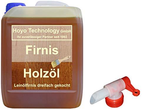Leinölfirnis 5 Liter Leinöl Firnis incl. Dosierhahn Lausitzer Holzschutz dreifach gekocht und harzfrei