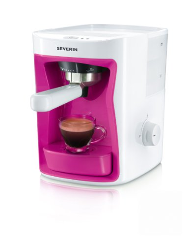 Severin KA 5993 Espressoautomat, 15 bar, weiß/pink