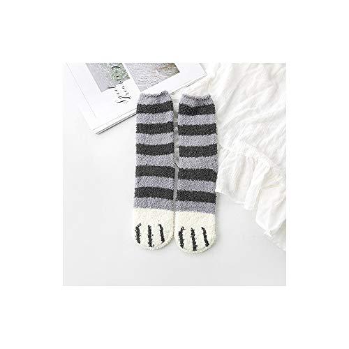 No Brand® dikke warme damessokken met cartoon-patroon, schattig, betoverend, slapen, thuis, hal, slaapkamer, mode