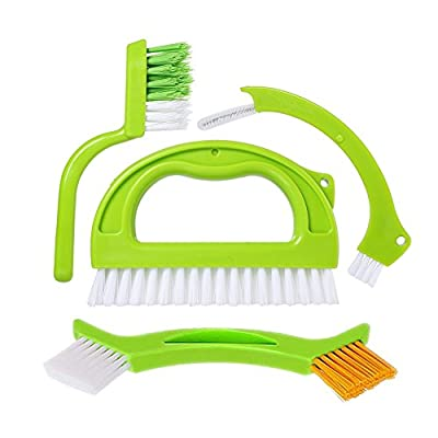 Grout Cleaner Brush - Tile Joint Cleaning Scrubber Brush with Nylon Bristles - Great Use for Deep Cleaning Shower,Floors,Window,Bathroom,Kitchen,Track and Other Household.4 in 1 Value Pack By DoriHom.