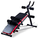 KESHWELL Ab Workout Machine,Core Abs Exercise Equipment for Home Gym,Adjustable Sit Up Bench Strength Training Abdominal Cruncher,Foldable Core Workout Machine with Resistance Bands&LCD Display