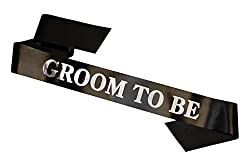 Groom-to-be sash for wedding shower or couples shower